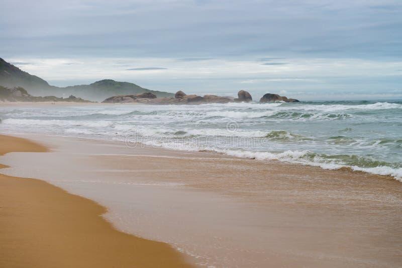 Mole beach in Florianopolis, Santa Catarina, Brazil. One of the main tourists destination in south region stock photography