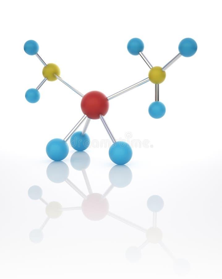 Molecola chimica illustrazione di stock