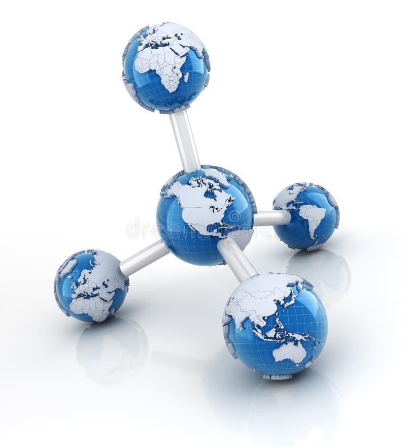 Molecola con i globi illustrazione di stock