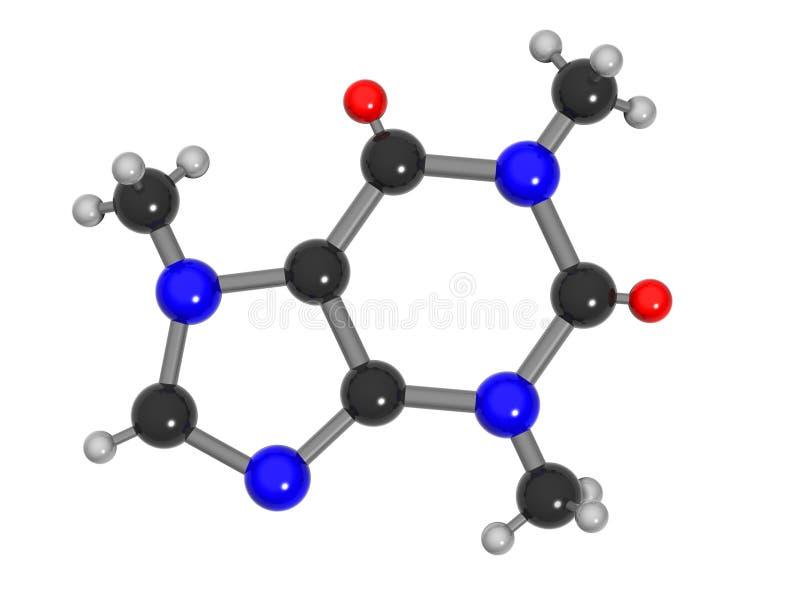 Molecola della caffeina royalty illustrazione gratis