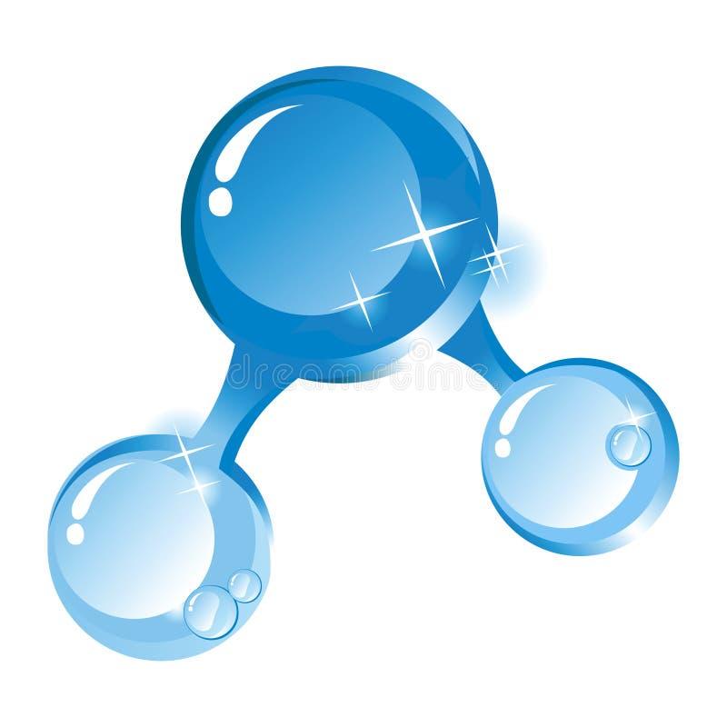 Molecola di acqua illustrazione di stock