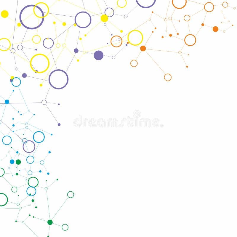 Molecola e fondo di comunicazione illustrazione di stock