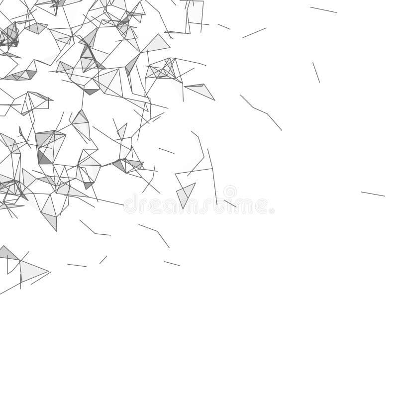 Molecola grafica e comunicazione del fondo illustrazione vettoriale