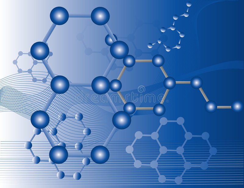 Molecole organiche illustrazione di stock