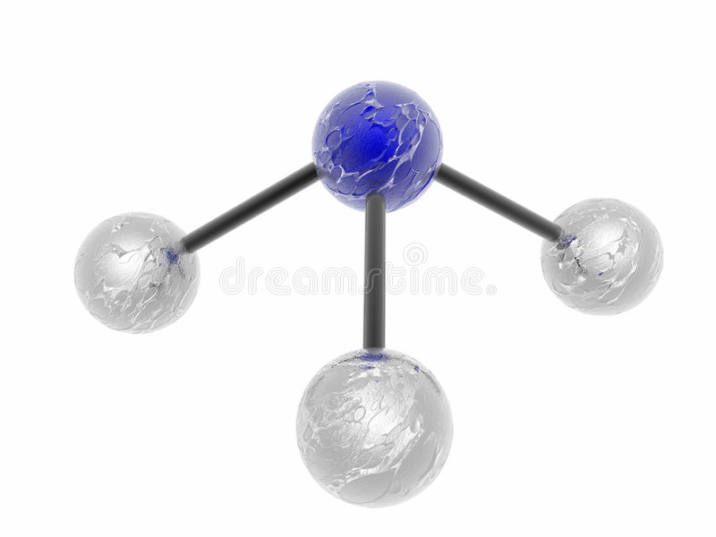 Molecole polari royalty illustrazione gratis