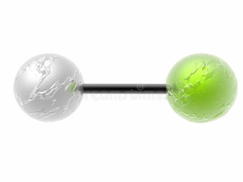 Molecole polari illustrazione vettoriale