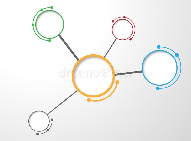 Molecula tło ilustracji