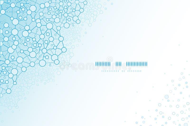 Moleculair structuur wetenschappelijk horizontaal malplaatje vector illustratie