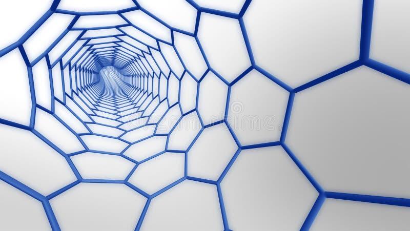 Moleculair Web royalty-vrije illustratie