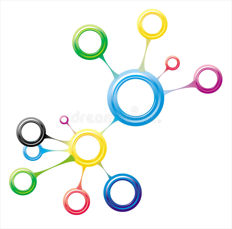 Moleculaire aansluting vector illustratie