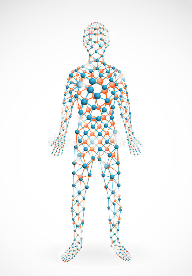 Moleculaire mens royalty-vrije illustratie