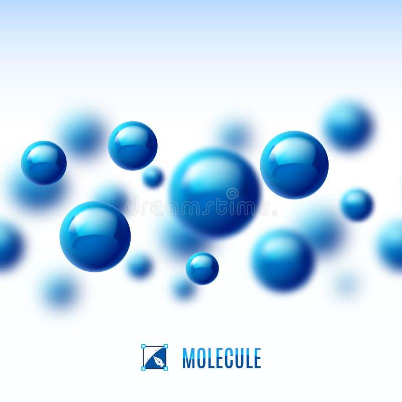 Moleculaire structuur stock illustratie