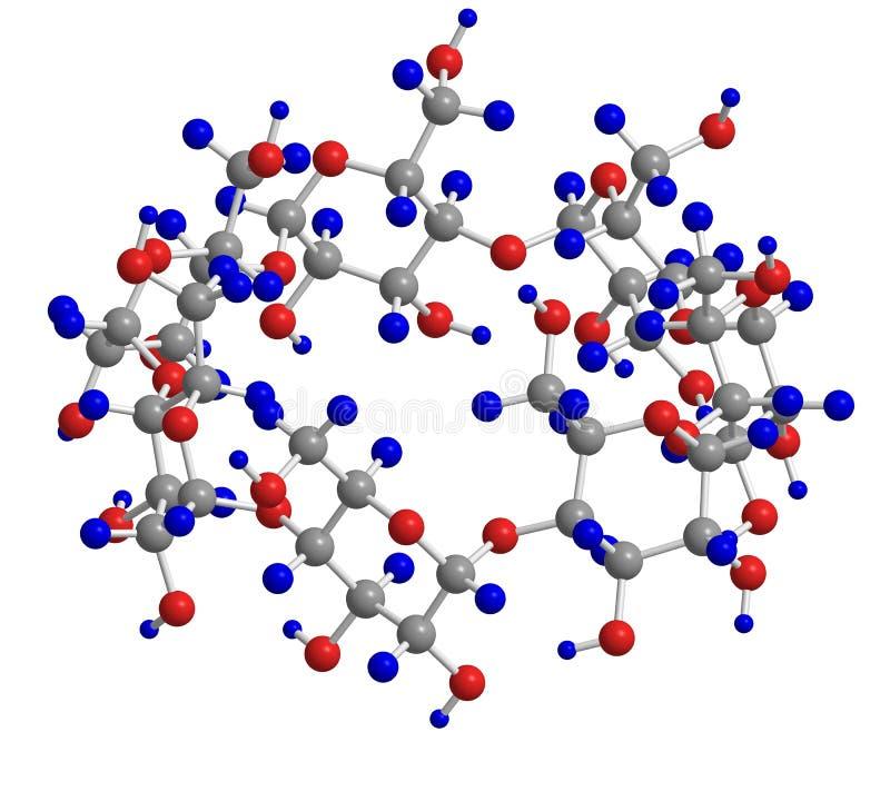 Moleculaire structuur royalty-vrije illustratie