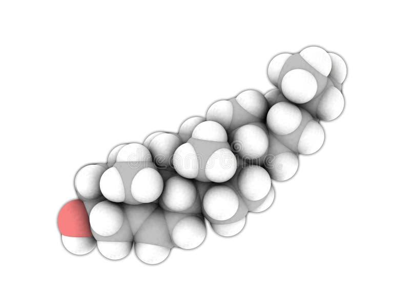 Moleculaire structuur van Cholesterol op wit vector illustratie