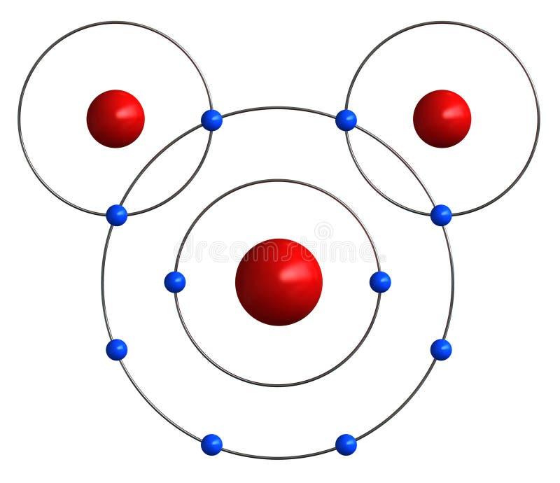 Moleculaire structuur van water vector illustratie