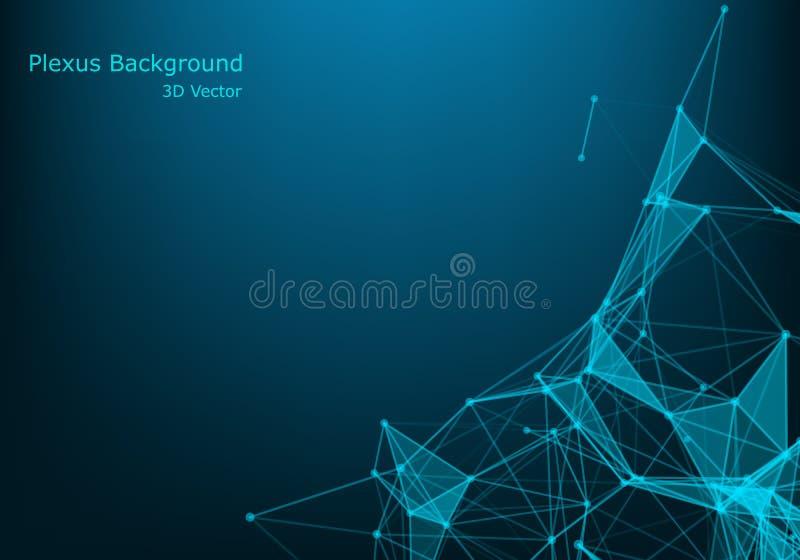 Moleculaire structuurachtergrond Abstracte achtergrond met moleculedna Medische, wetenschaps en technologieconcepten, vector vector illustratie