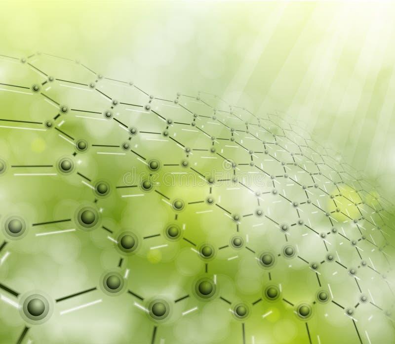 Molecular background stock illustration