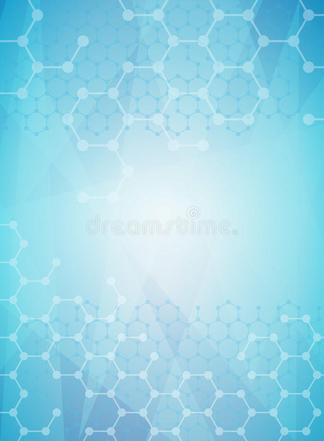 Molecular background vector illustration