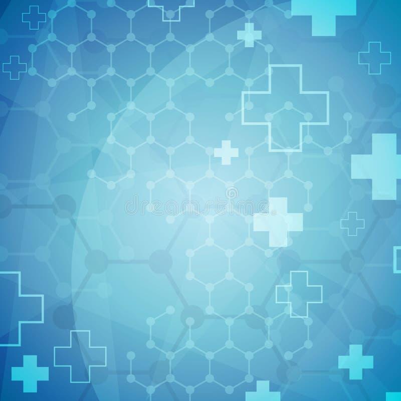 Molecular background vector illustration