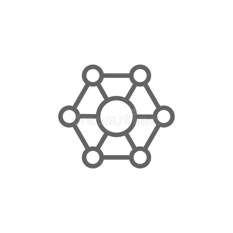 Molecular, biology icon. Element of bio engineering illustration. Thin line icon for website design and development, app royalty free illustration