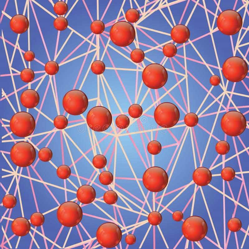 Molecular bond stock illustration