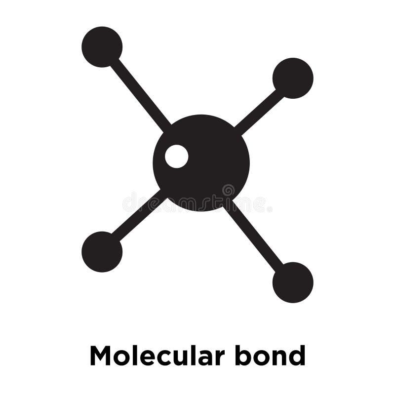 Molecular bond icon vector isolated on white background, logo co royalty free illustration