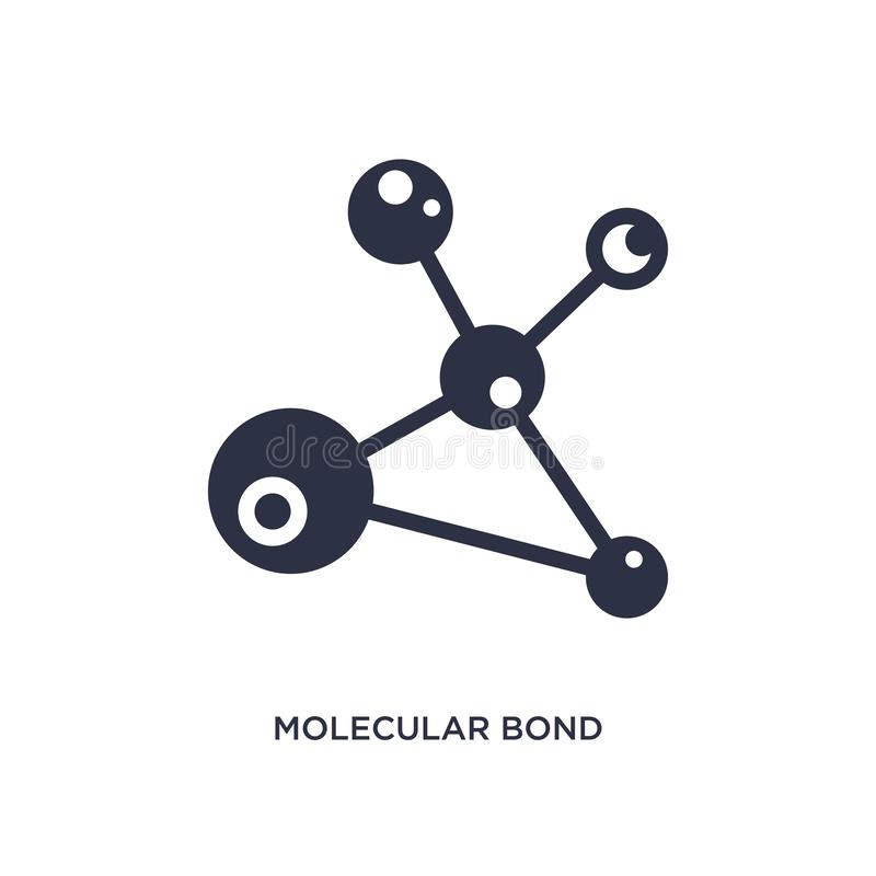 molecular bond icon on white background. Simple element illustration from education concept vector illustration