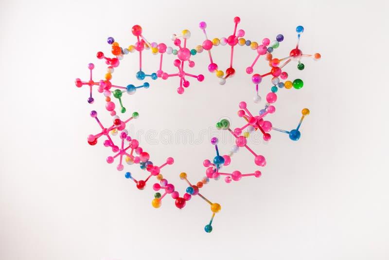 molecular do amor com harmonia imagens de stock royalty free