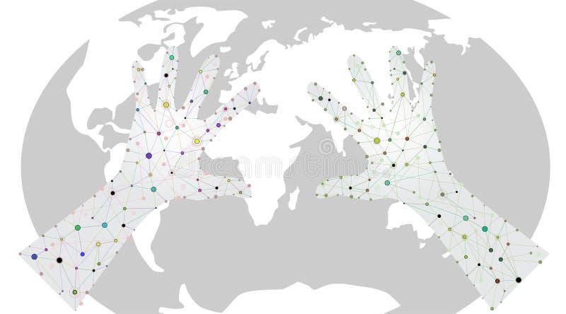 Molecular entrega el mundo libre illustration