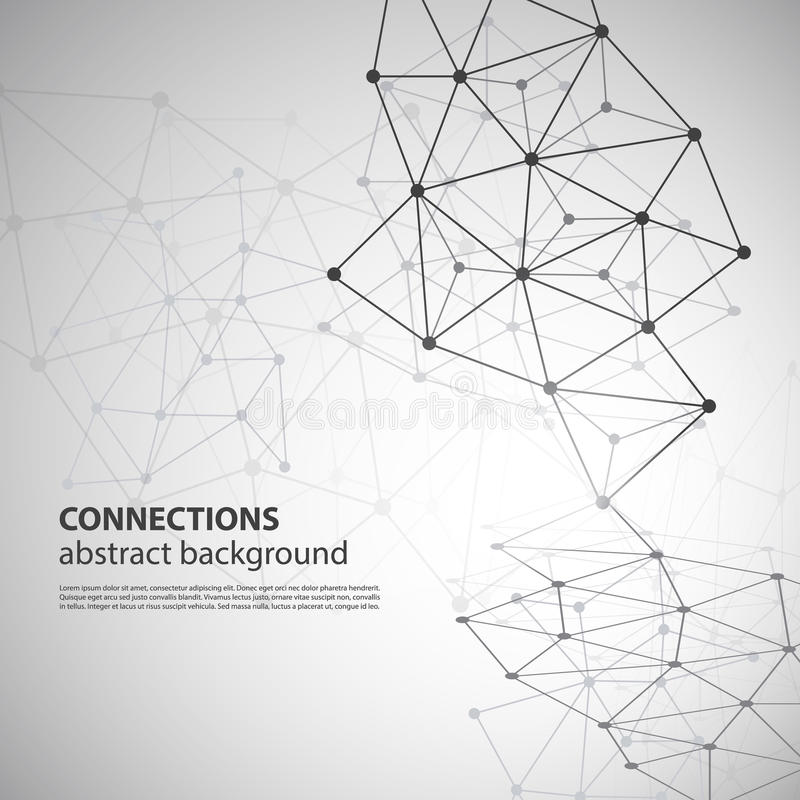 Molecular, Global or Business Network Connections stock illustration