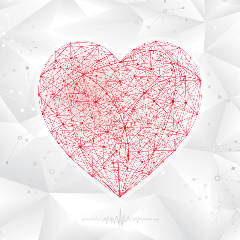 Molecular Heart Shape royalty free stock photos