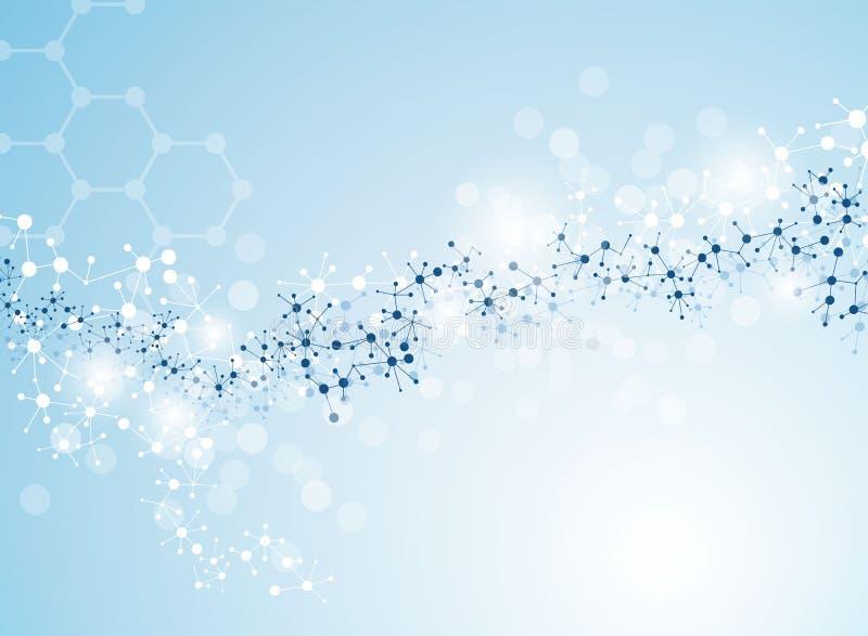 Molecular medical background stock illustration