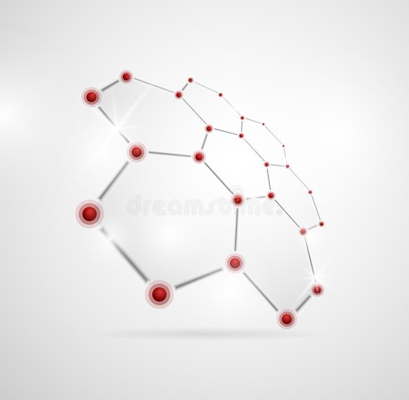 Download Molecular structure stock vector. Image of health, design - 24008735
