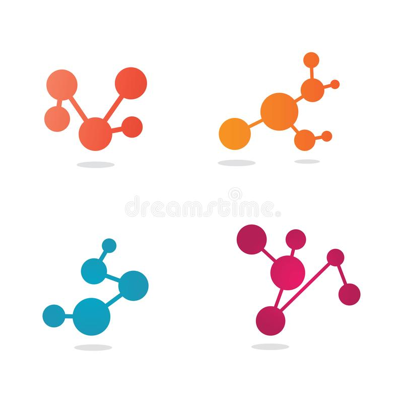 Molecular structure chemical atoms vector. Illustration, evolution, abstract, background, biochemistry, biology, cell, genetics, geometric, formula, element royalty free illustration