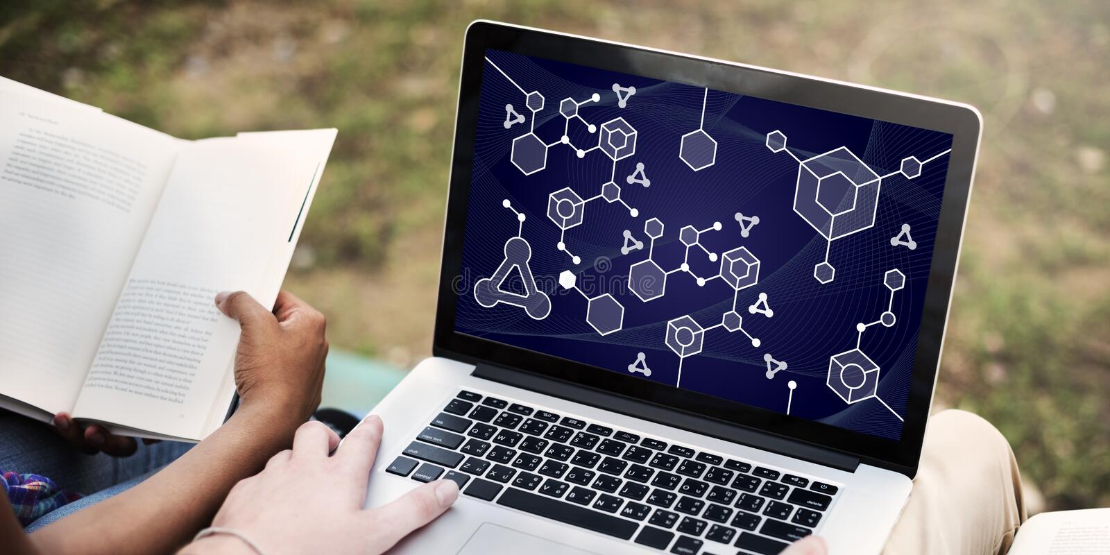 Molecular Structure Chemistry Science Experiment Concept royalty free stock photo