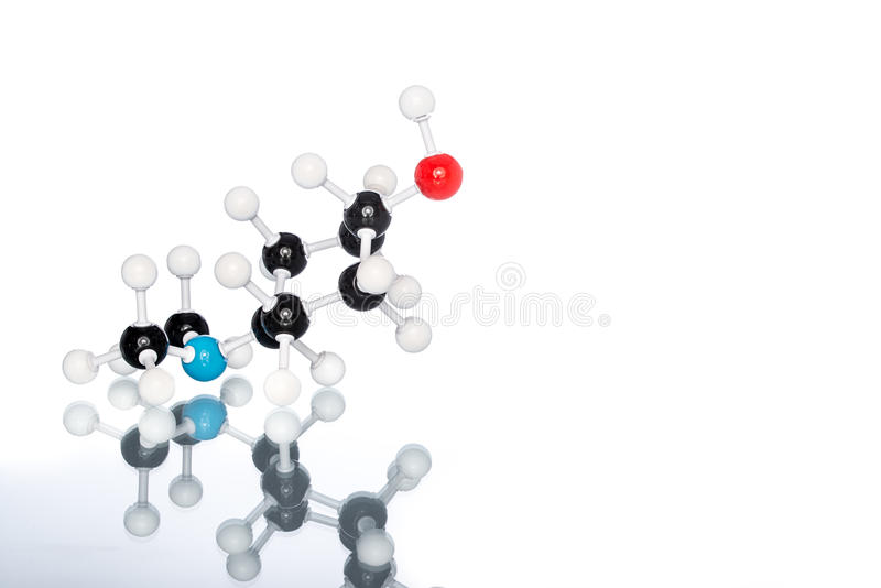 Molecular Structure. On white background stock photos