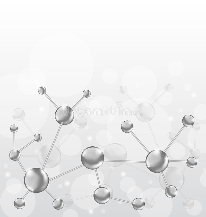 Download Molecular Structures Chain With Copy Space Stock Vector - Image: 27628213