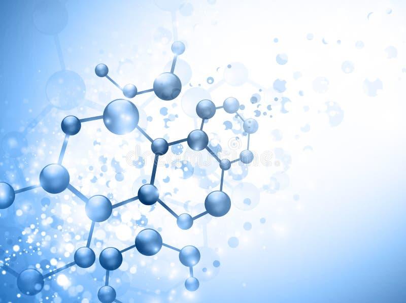 Molecule royalty-vrije illustratie