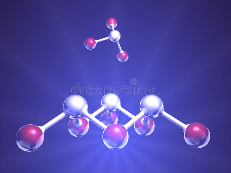 Download Molecule stock illustration. Image of microscopic, biology - 3493020