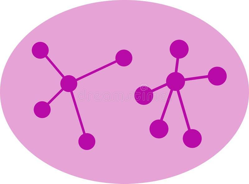 Download Molecule vector illustratie. Afbeelding bestaande uit gezondheid - 49554