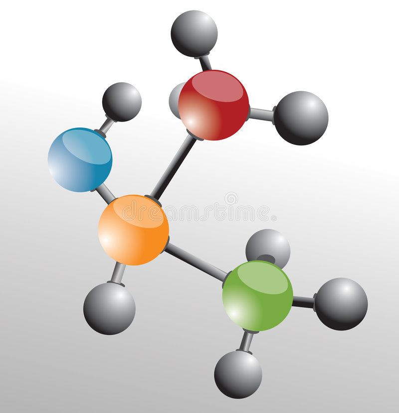 Molecule. Background and vector illustration