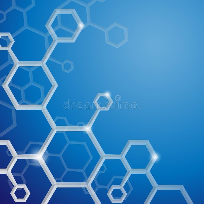 Molecule Abstracte Achtergrond. vector illustratie