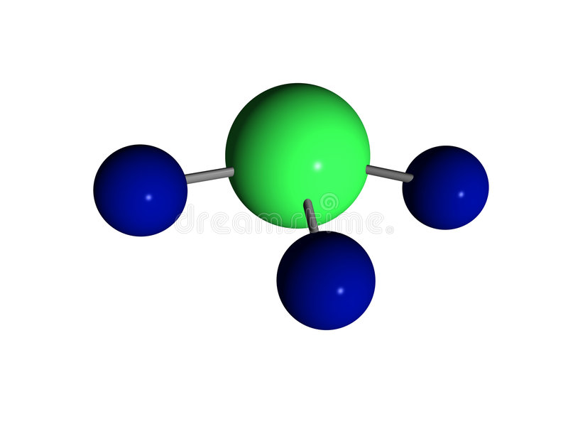 Molecule - Ammoniak - NH3 Stock Foto's