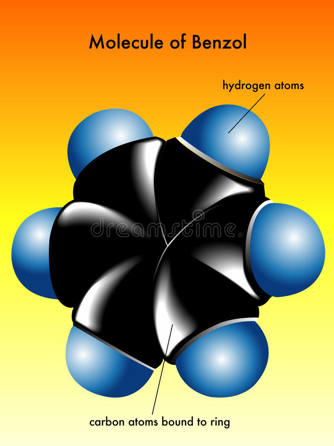 Download Molecule Of Benzol Royalty Free Stock Images - Image: 19947819