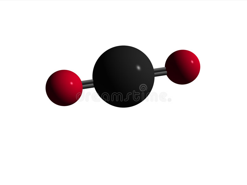 Molecule - Carbon Dioxide -CO2 stock images