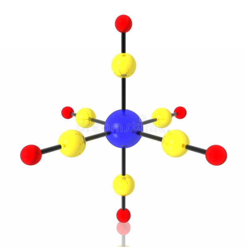 Molecule carbonyl chrome vector illustration