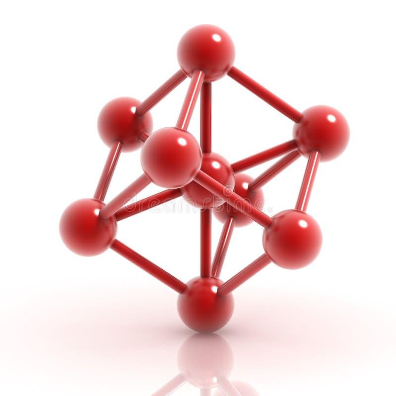 Molecule 3d pictogram vector illustratie