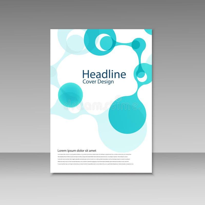 Molecule Design Brochure Template Science Vector Background Stock