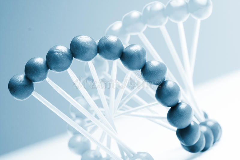 Molecule of DNA. On the white stock photo