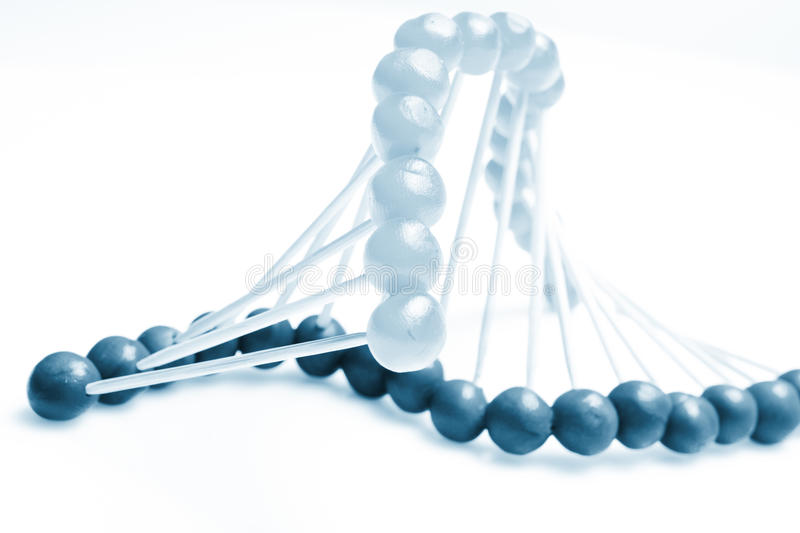 Molecule of DNA. On the white royalty free stock photos